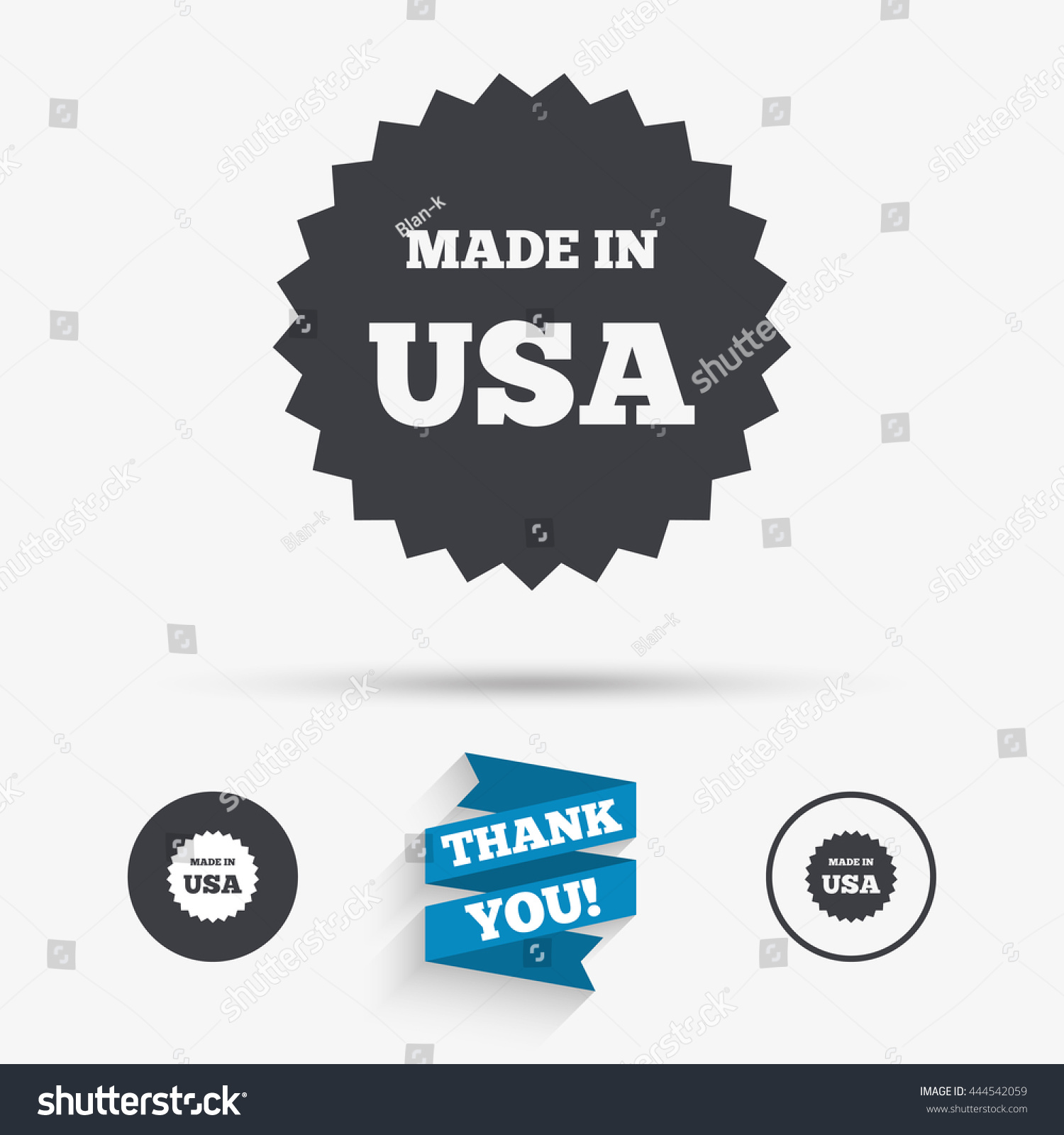 Made usa icon export production symbol stock vector 444542059 made in the usa icon export production symbol product created in america sign buycottarizona