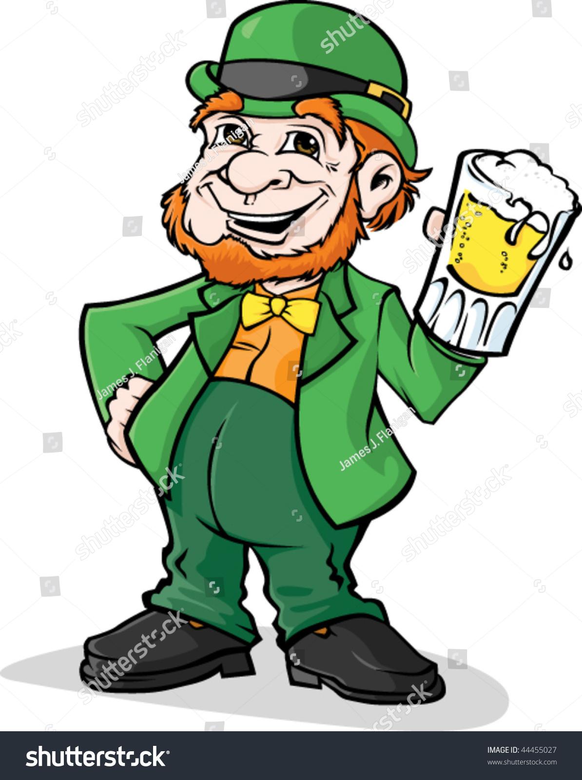 Leprechaun Beer Stock Vector 44455027 - Shutterstock