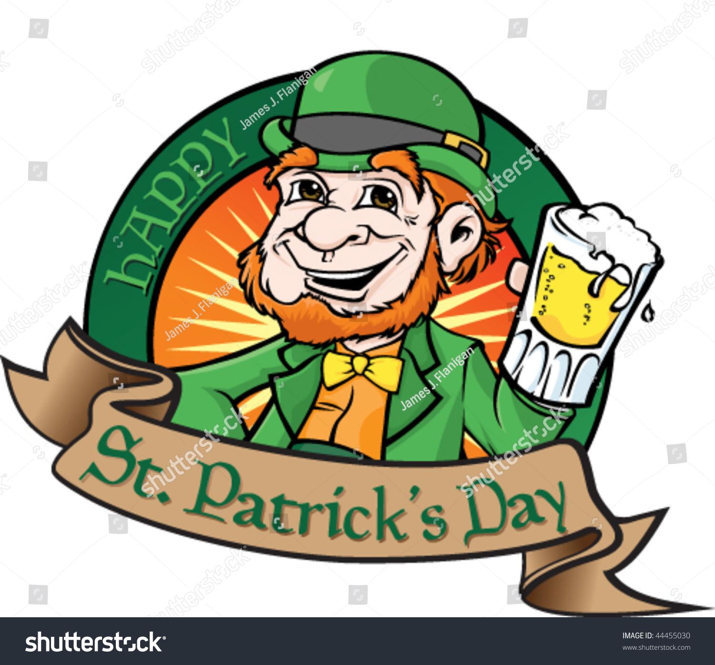 Leprechaun Beer Stock Vector 44455030 - Shutterstock