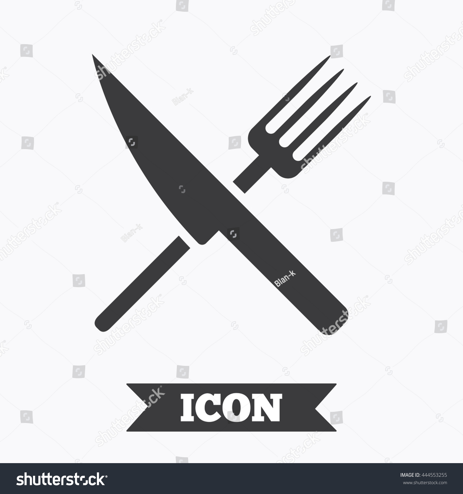 Food Sign Icon Cutlery Symbol Knife Stock Vector Royalty Free