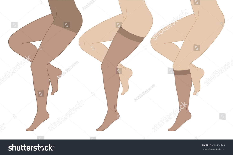 Medical compression hosiery for slender female feet stockings pantyhose socks Varicose Women's nylon stockings Female flat legs