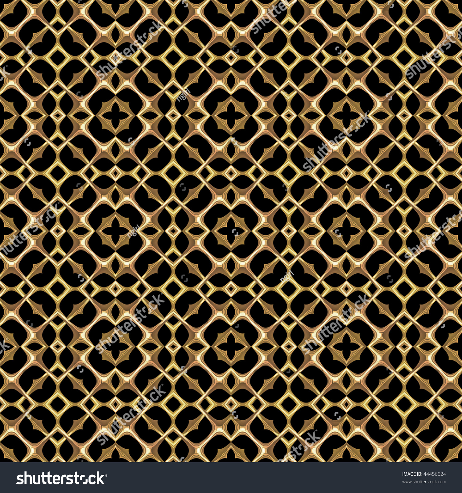 Decorative Metal Grates Gold Decorative Grill Grate Seamless Background Stock Illustration