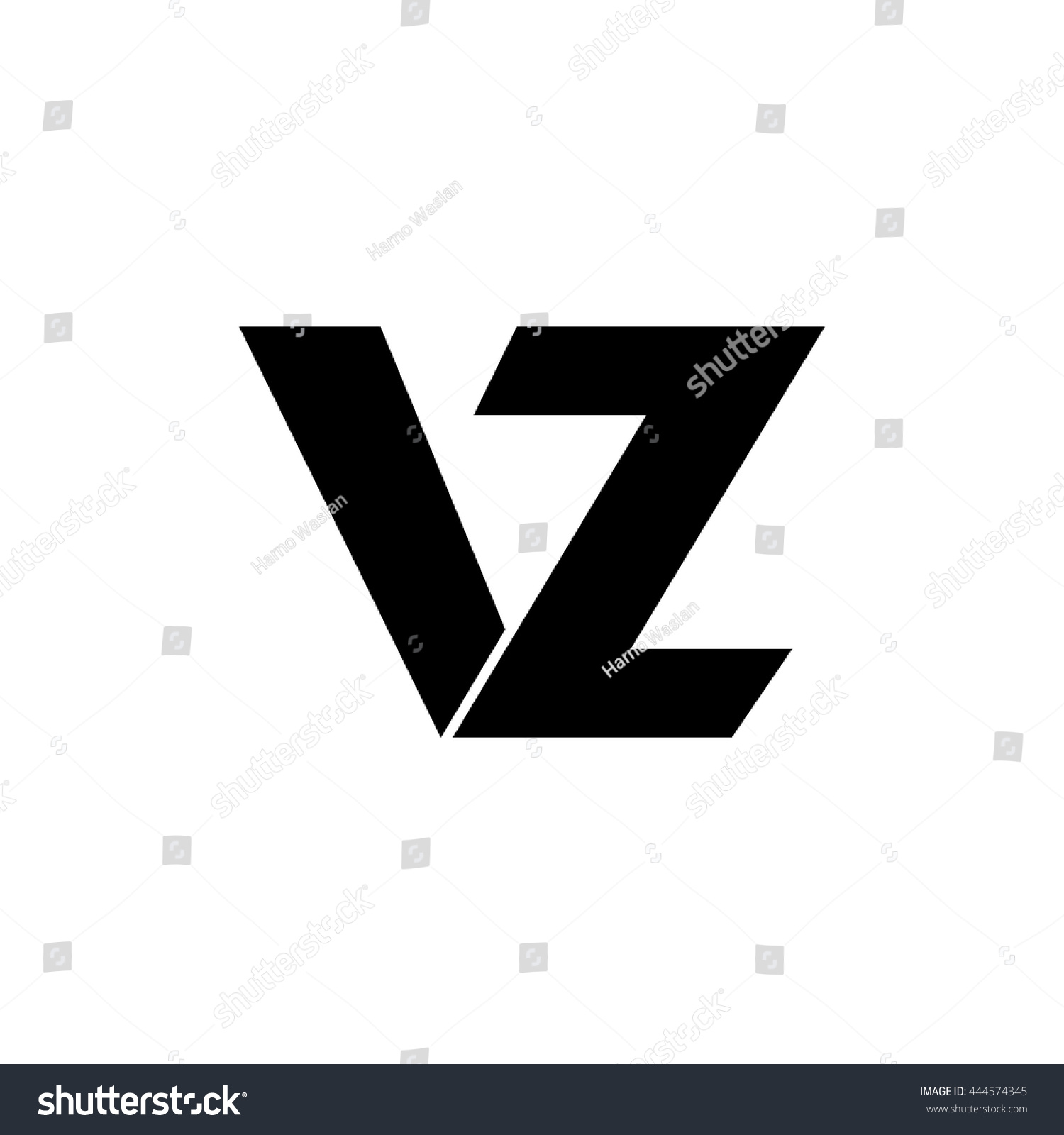 Vz letter vector logo stock vector 444574345 shutterstock vz letter vector logo biocorpaavc Image collections