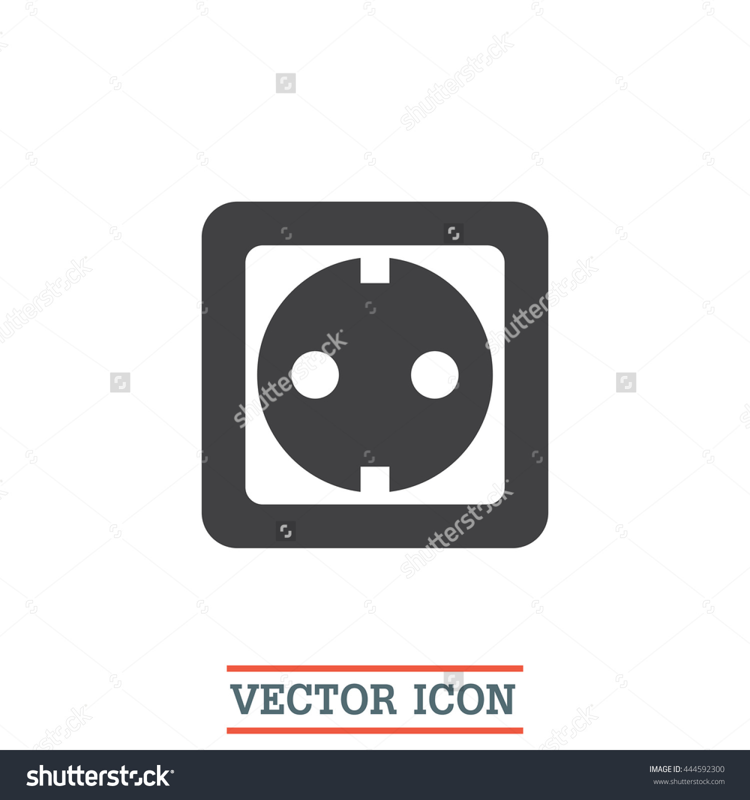 Power Socket Vector Icon Electric Outlet Stock Vector 444592300 ...
