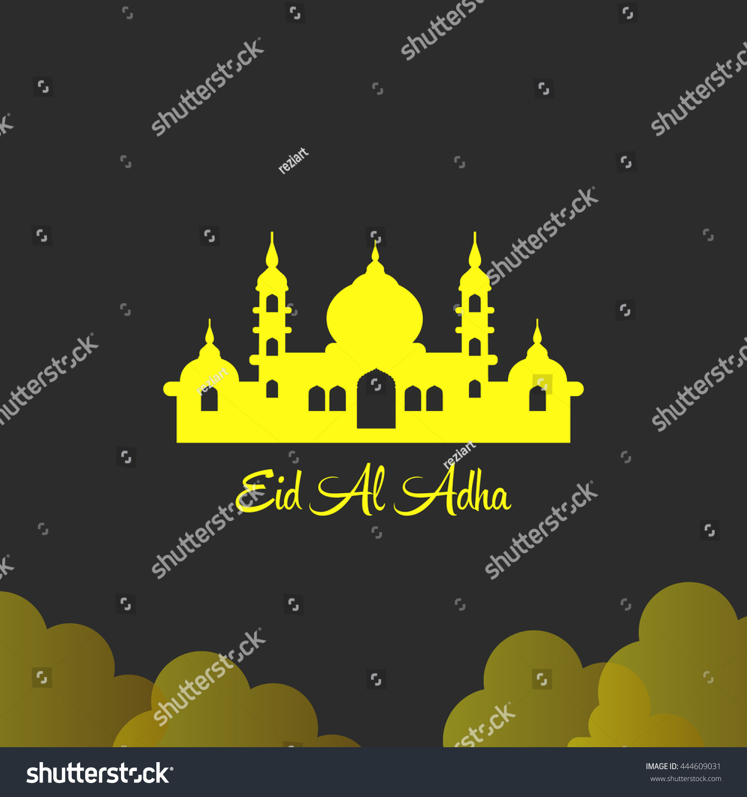 Greeting Cards Illustration Ramadhan Ramadhan Kareem Eid Mubarak