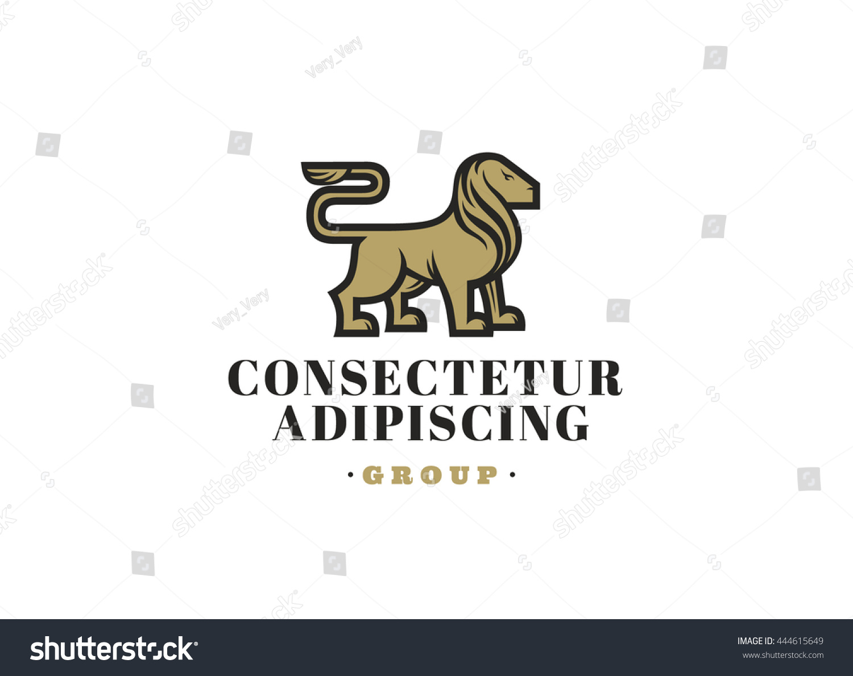 royal lion logo template design vector stock vector 444615649 shutterstock. Black Bedroom Furniture Sets. Home Design Ideas