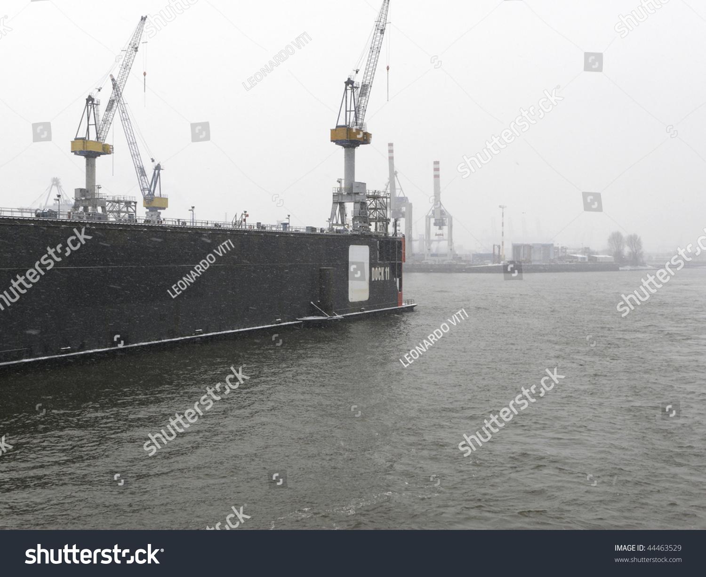 floating shipyard in hamburg stock photo 44463529 shutterstock. Black Bedroom Furniture Sets. Home Design Ideas