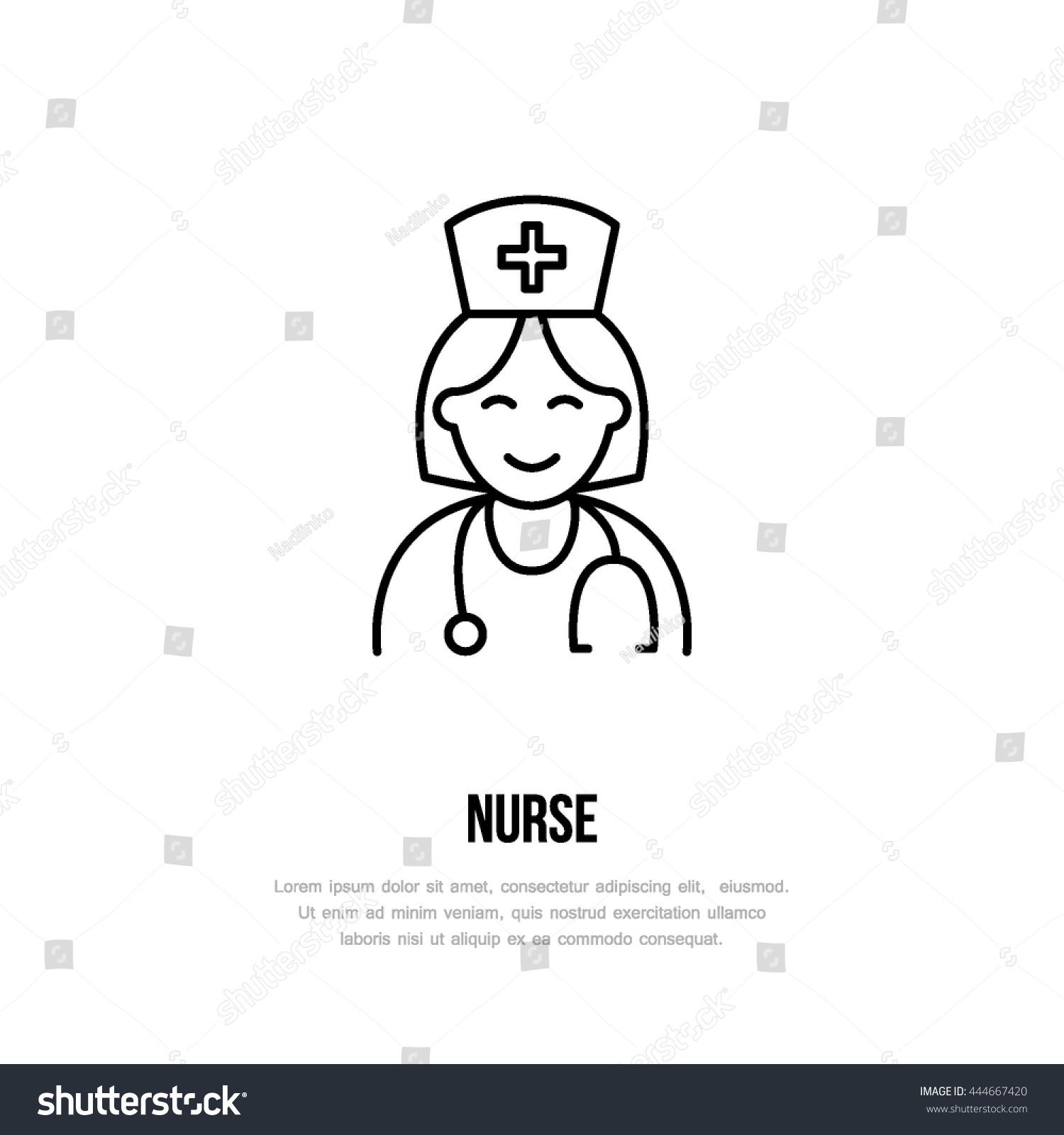 Line Drawing Nurse : Modern vector line icon nurse gynecology stock