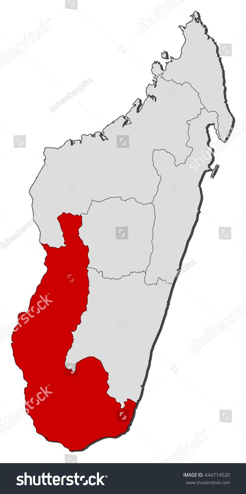 Map Madagascar Toliara Stock Vector (Royalty Free) 444714520 ...