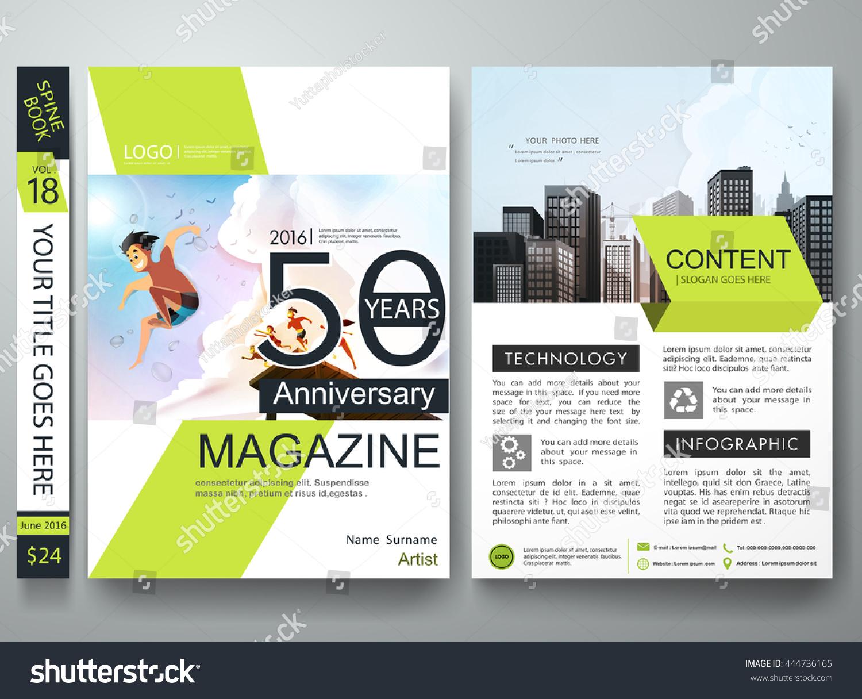 Brochure design template vector business flyers stock for Brochure layout design