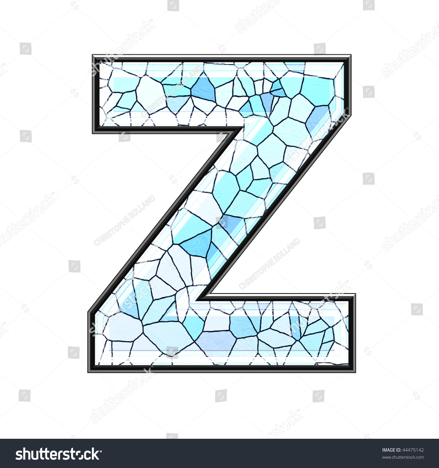 Abstract 3d letter ceramic tile texture stock illustration abstract 3d letter with ceramic tile texture z doublecrazyfo Image collections