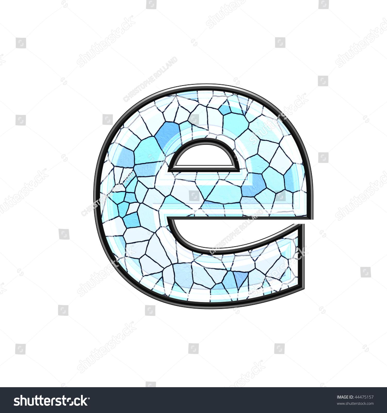 Abstract 3d letter ceramic tile texture stock illustration abstract 3d letter with ceramic tile texture e doublecrazyfo Image collections