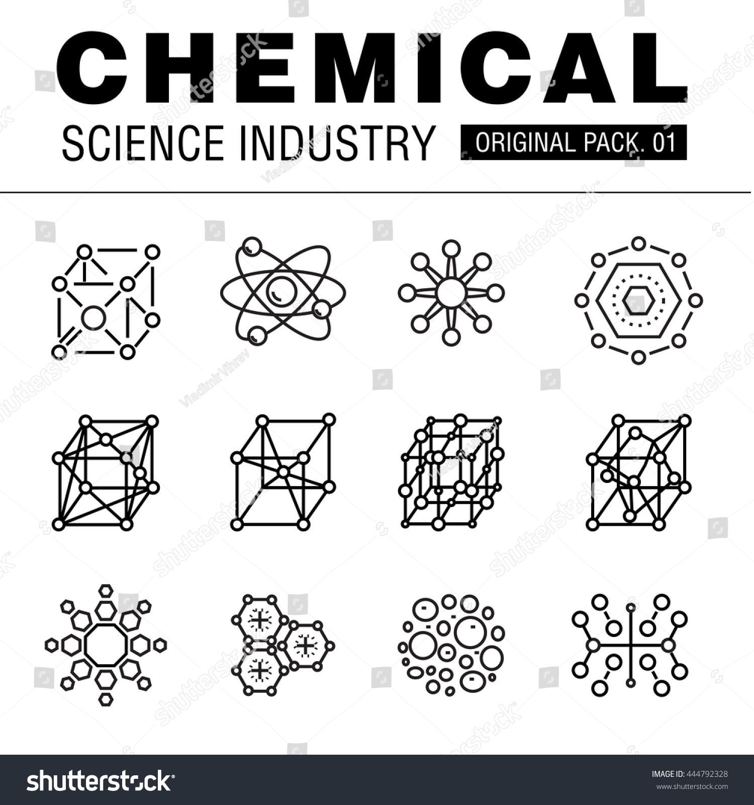 Modern chemical science industry Thin line icons set biology technology laboratory set collection with global industry elements Premium quality vector symbol Stroke pictogram for web design