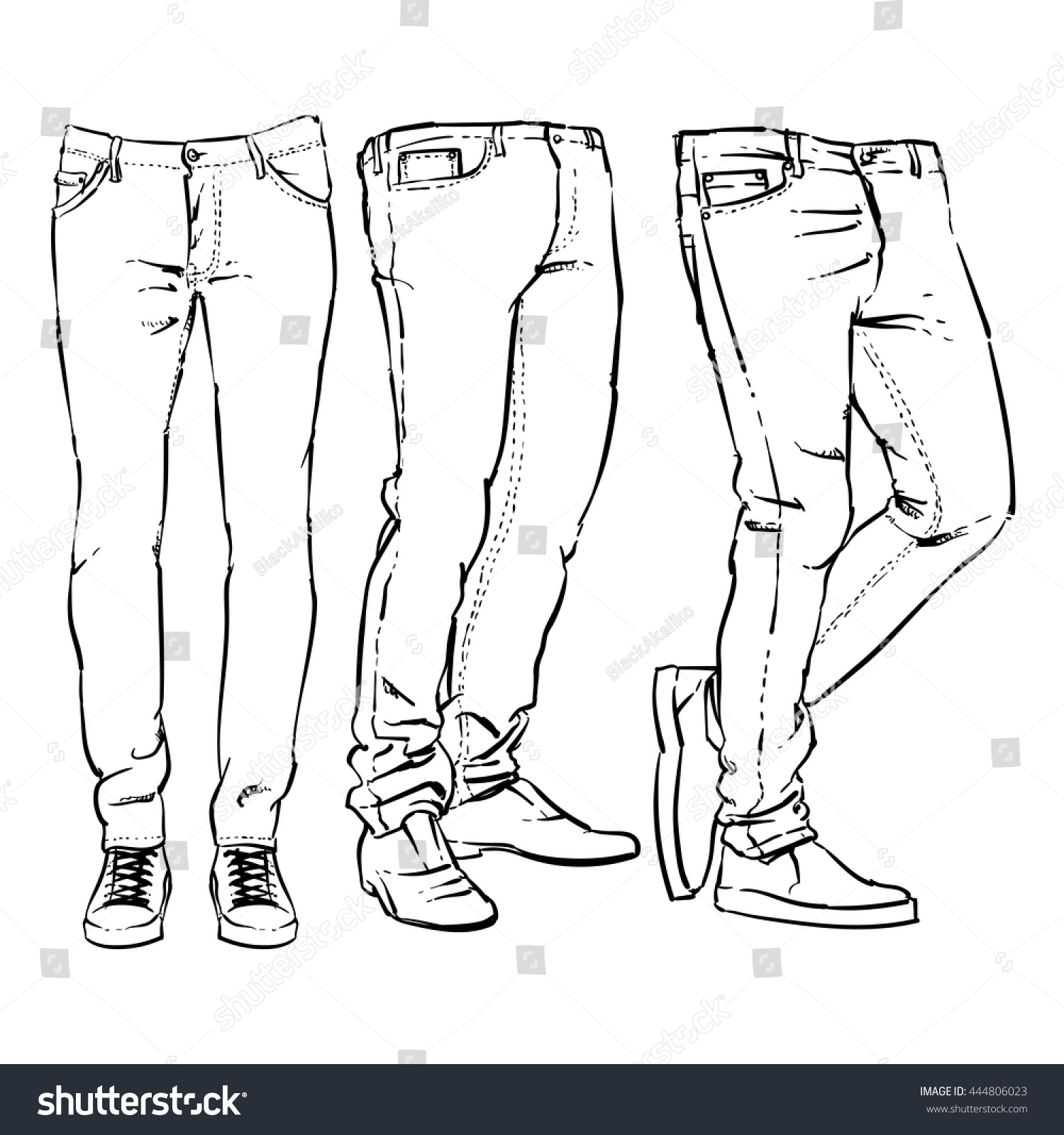 how to cut pants for guys