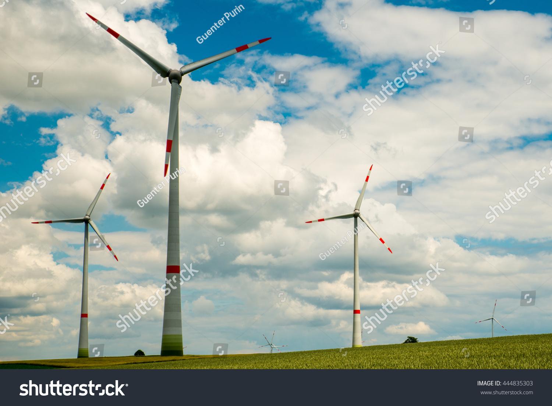 Modern Wind Turbine Field Stock Photo 444835303 Shutterstock