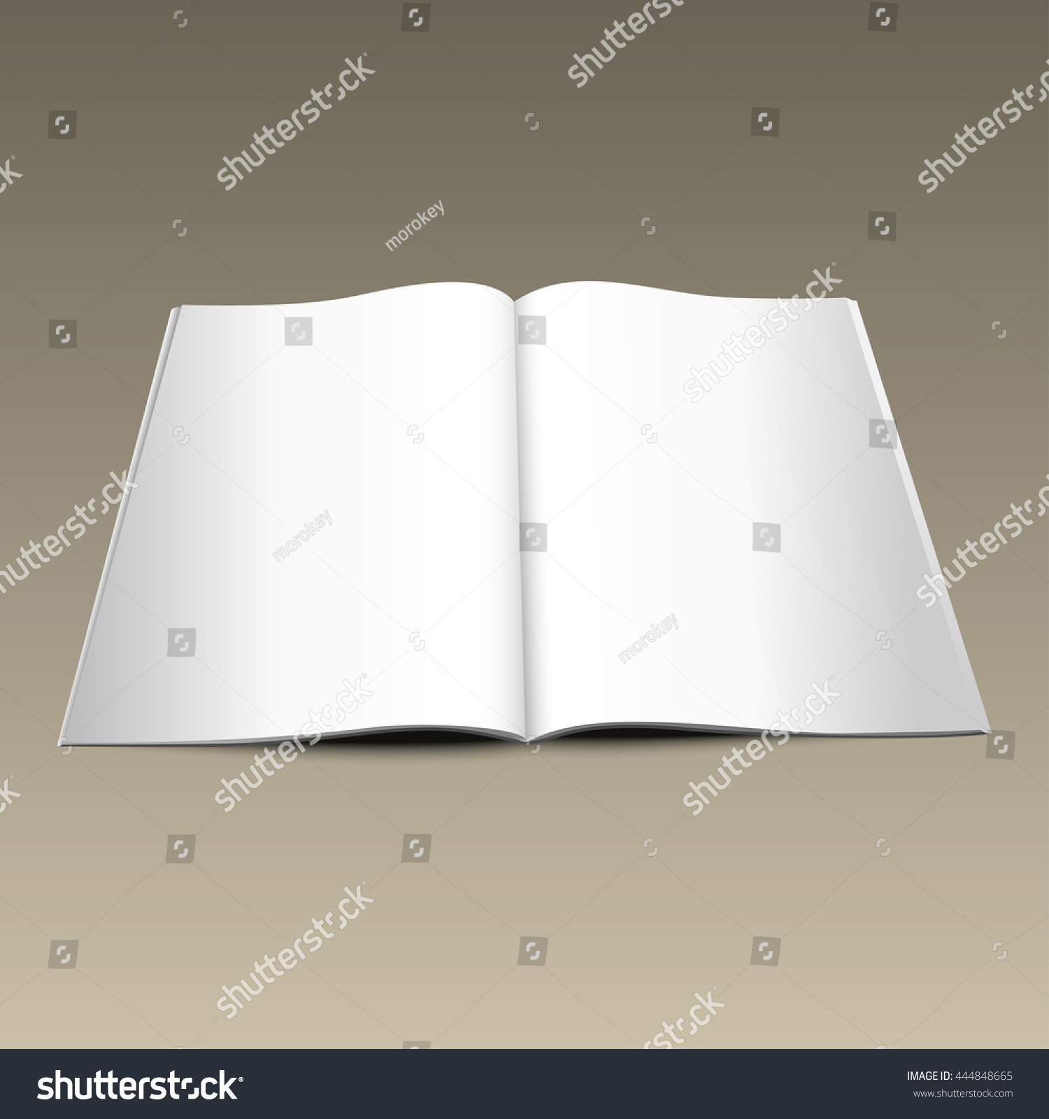 Vector Magazine Blank Page Template For Design On Gray Background