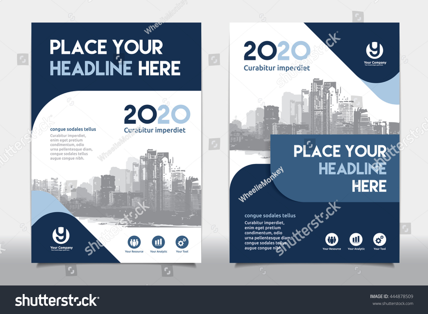 Book Cover Design Sites : Blue color scheme city background business stock vector