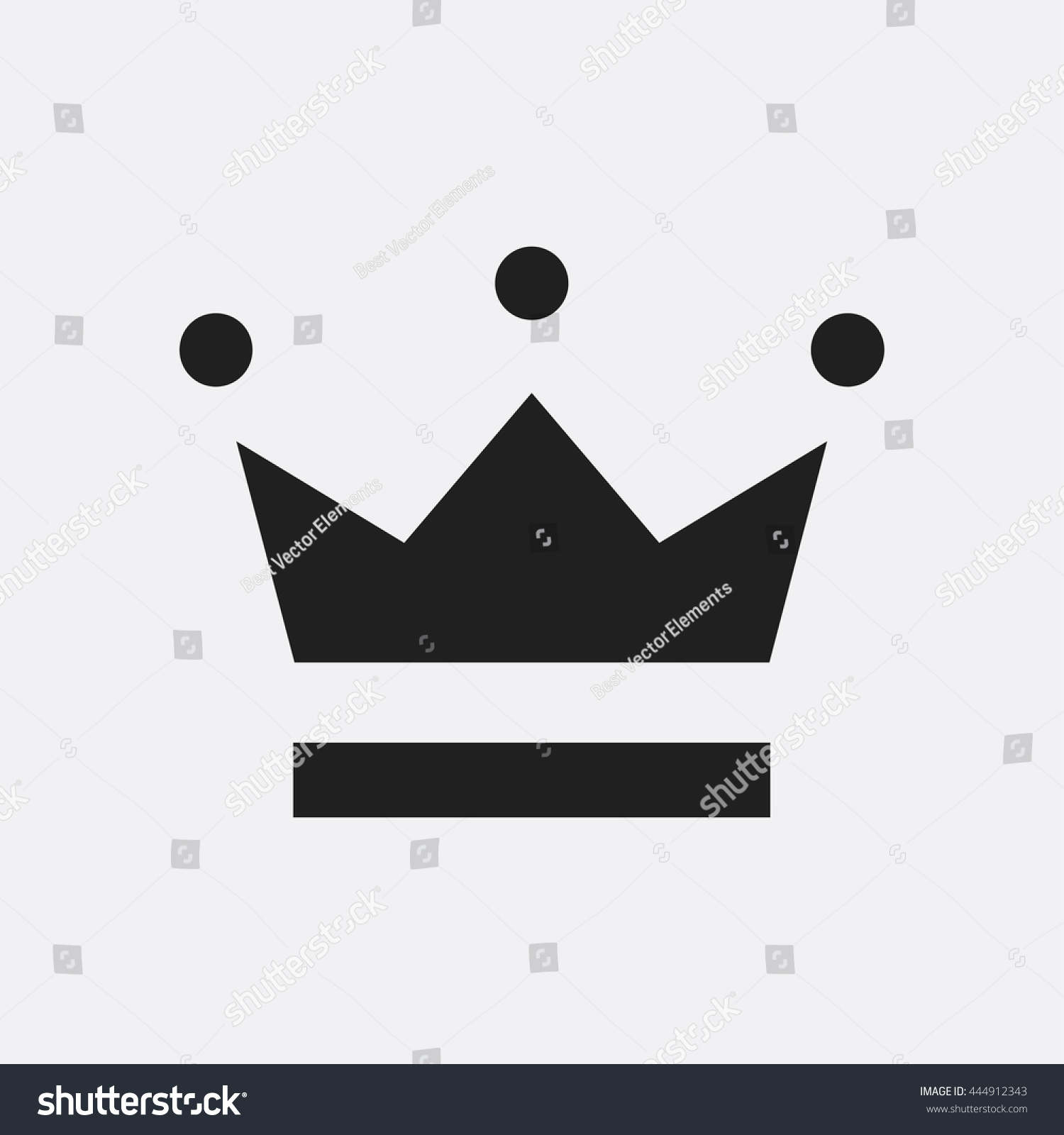Crown facebook symbol choice image symbol and sign ideas crown icon stock vector 444912343 shutterstock crown icon buycottarizona buycottarizona