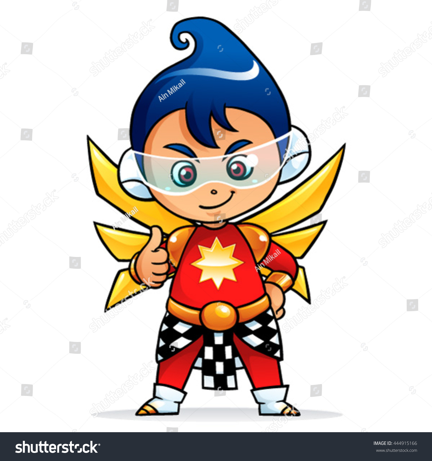 Future Puppet Boy Mascot Character Super Stock Vector Royalty Free