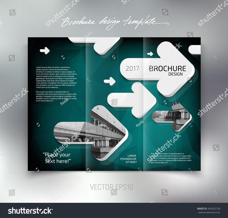 Vector modern trifold brochure design template stock for 3d brochure design