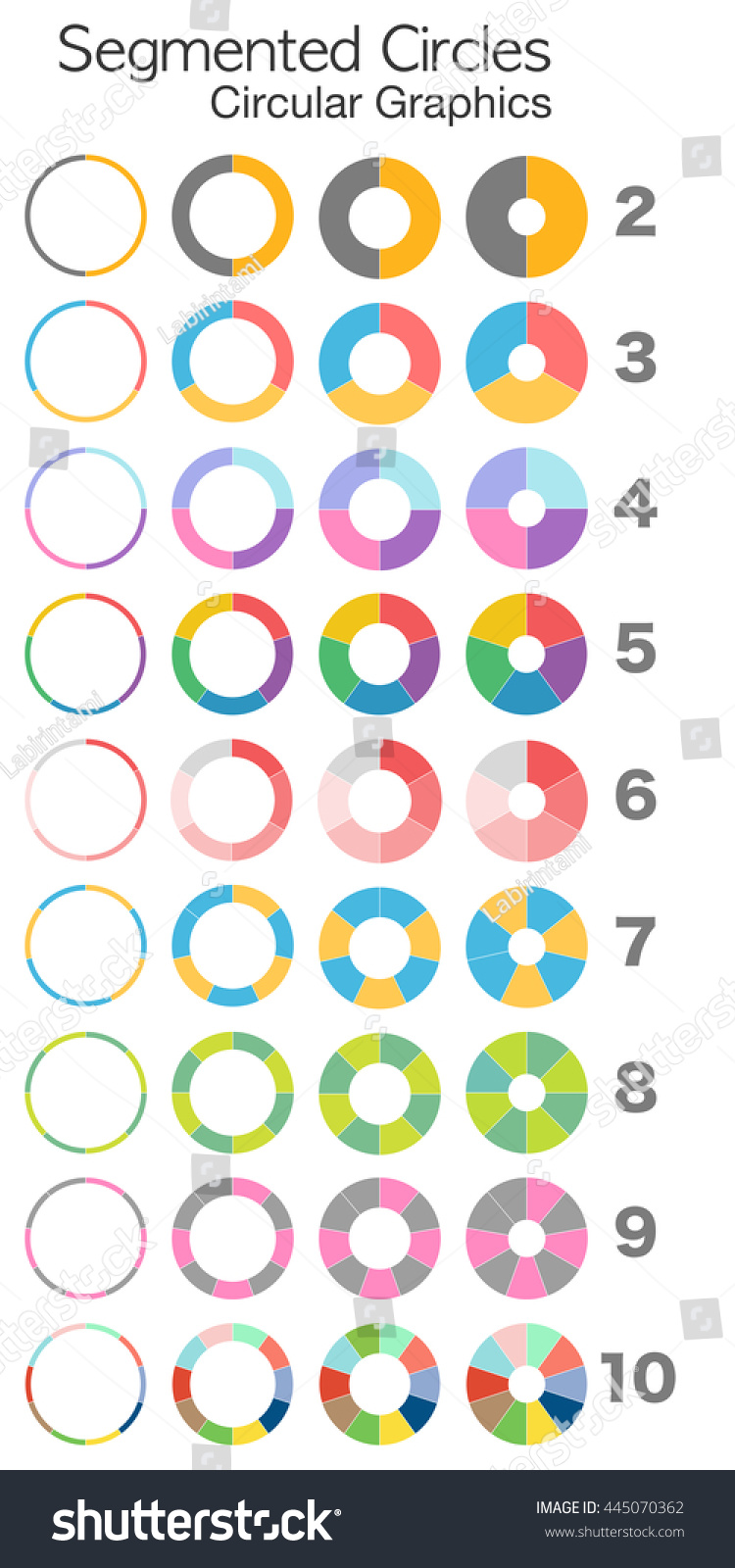 Fast quality generator pie charts pie stock vector 445070362 fast quality generator pie charts pie diagram doughnut chart segmented circles circular nvjuhfo Images