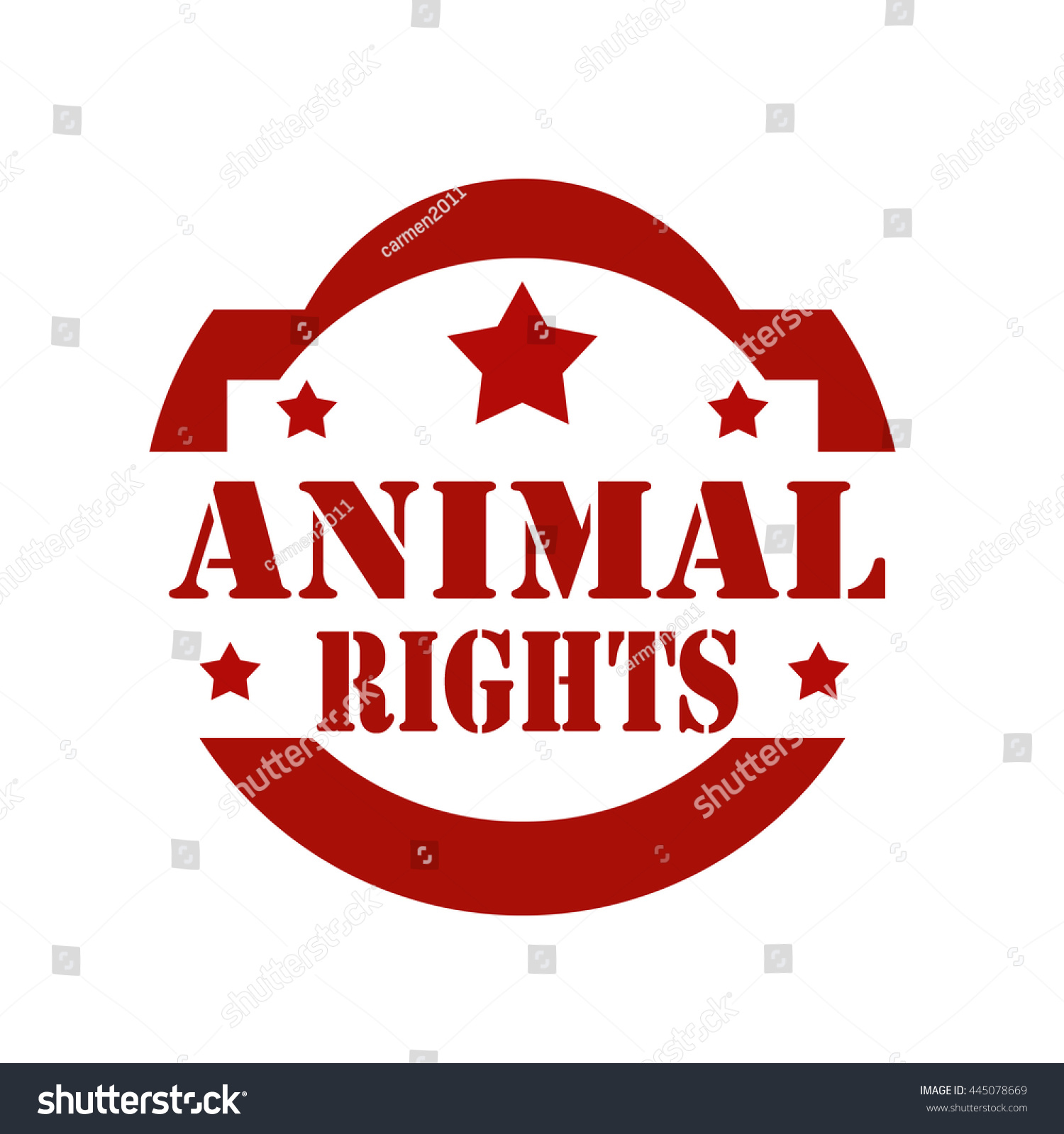 Stamp Text Animal Rightsvector Illustration Stock Vector Royalty