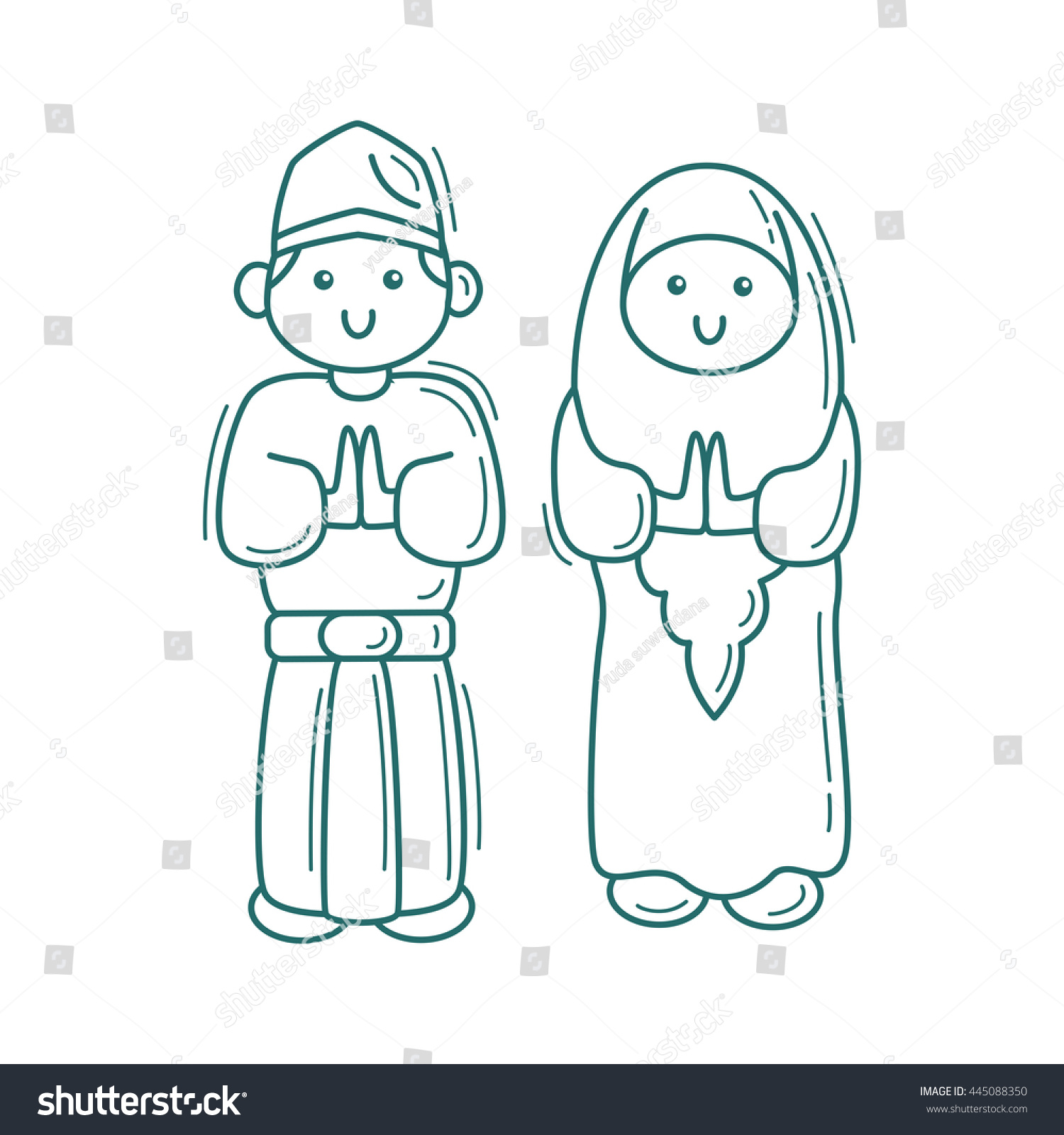 muslim icon stock vector 445088350 shutterstock