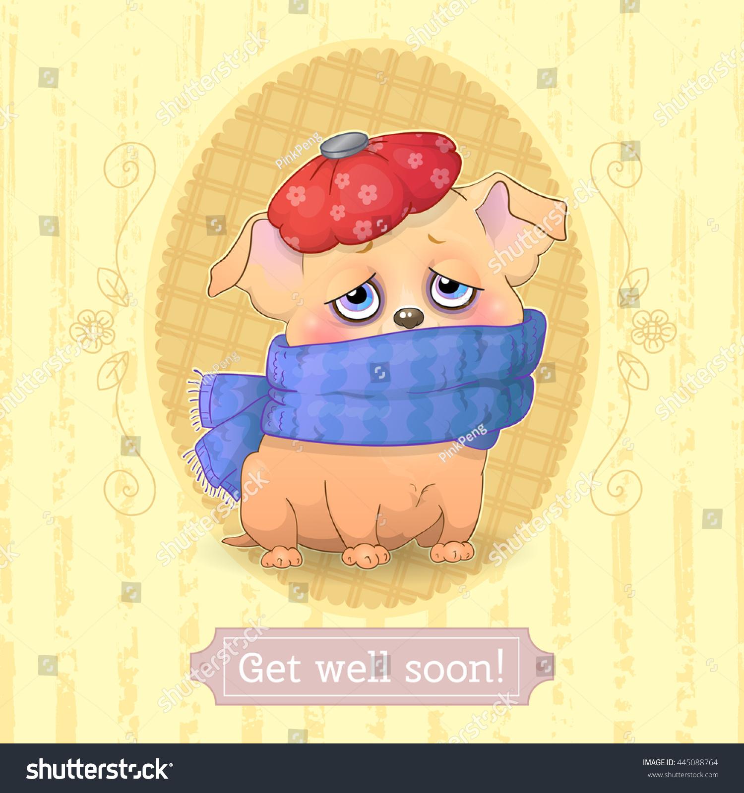 Get Well Soon Cartoon Vector Greeting Stock Vector Royalty Free
