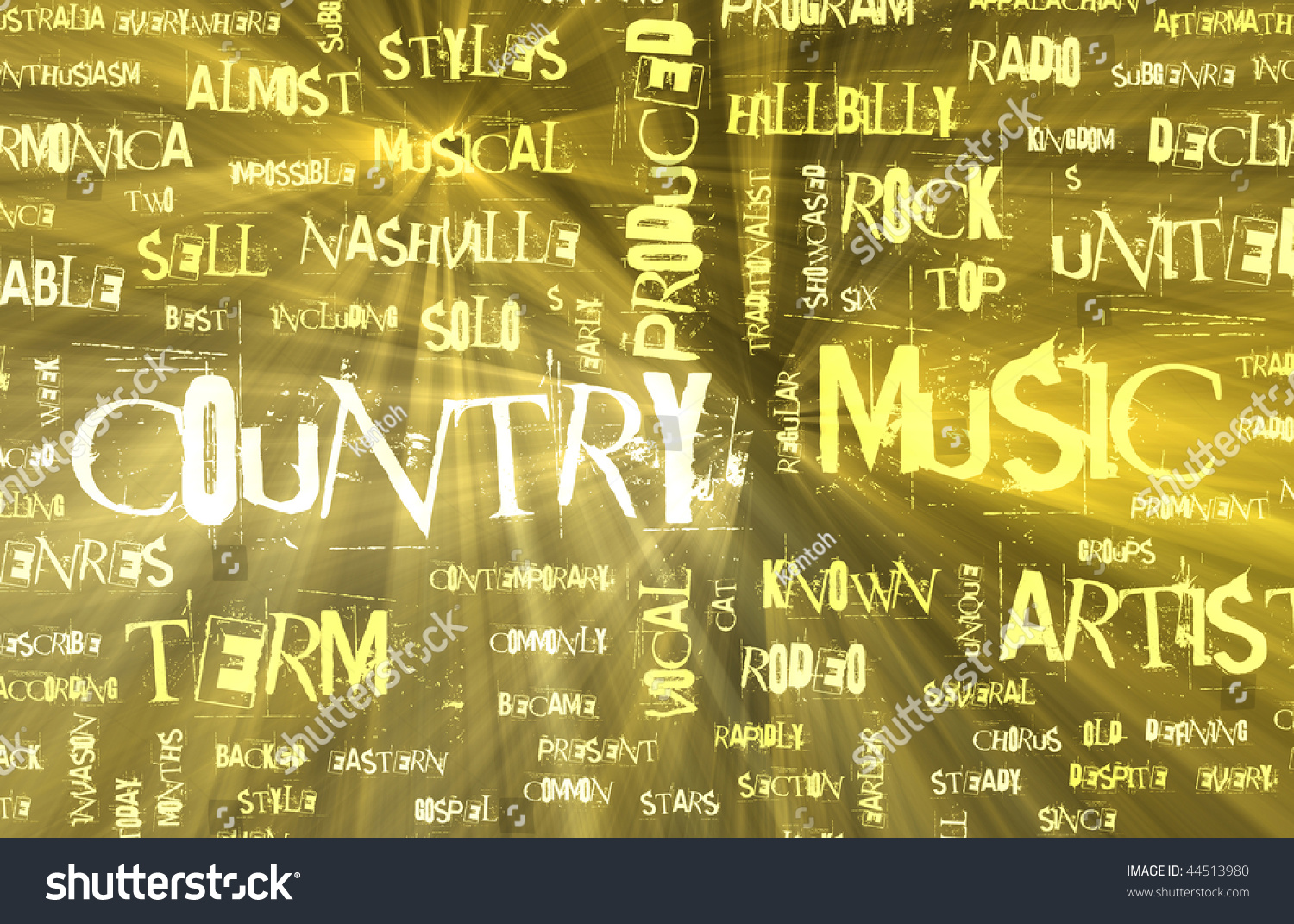Country Music Genre As A Grunge Background Stock Photo