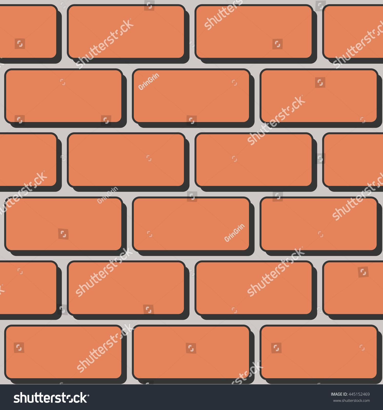Vector Seamless Cartoon Brick Texture Orange Stock Vector