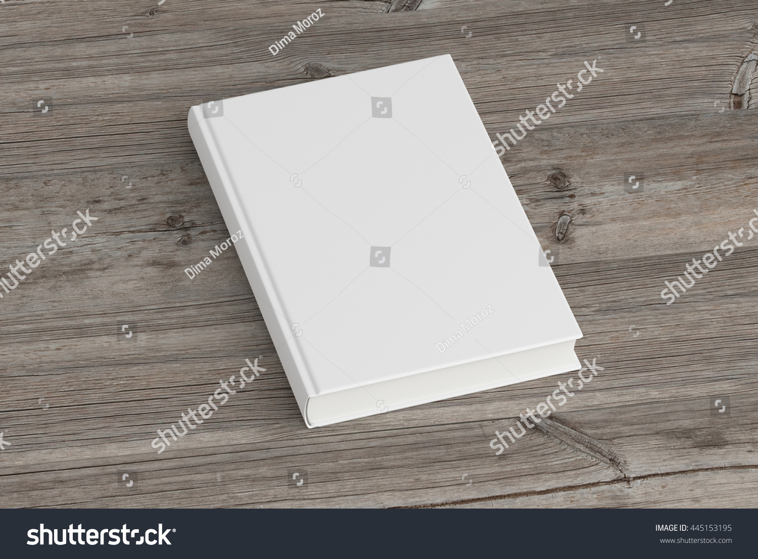 Blank Book Cover Background : Blank book cover on wood background stock illustration
