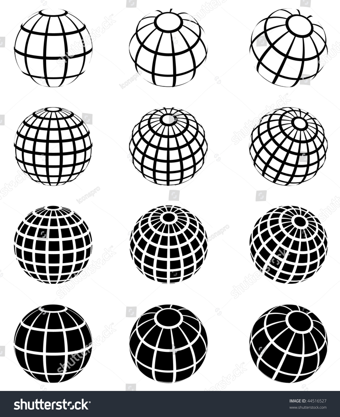 Original Vector Illustration Globe Wire Frame Stock Vector (Royalty ...