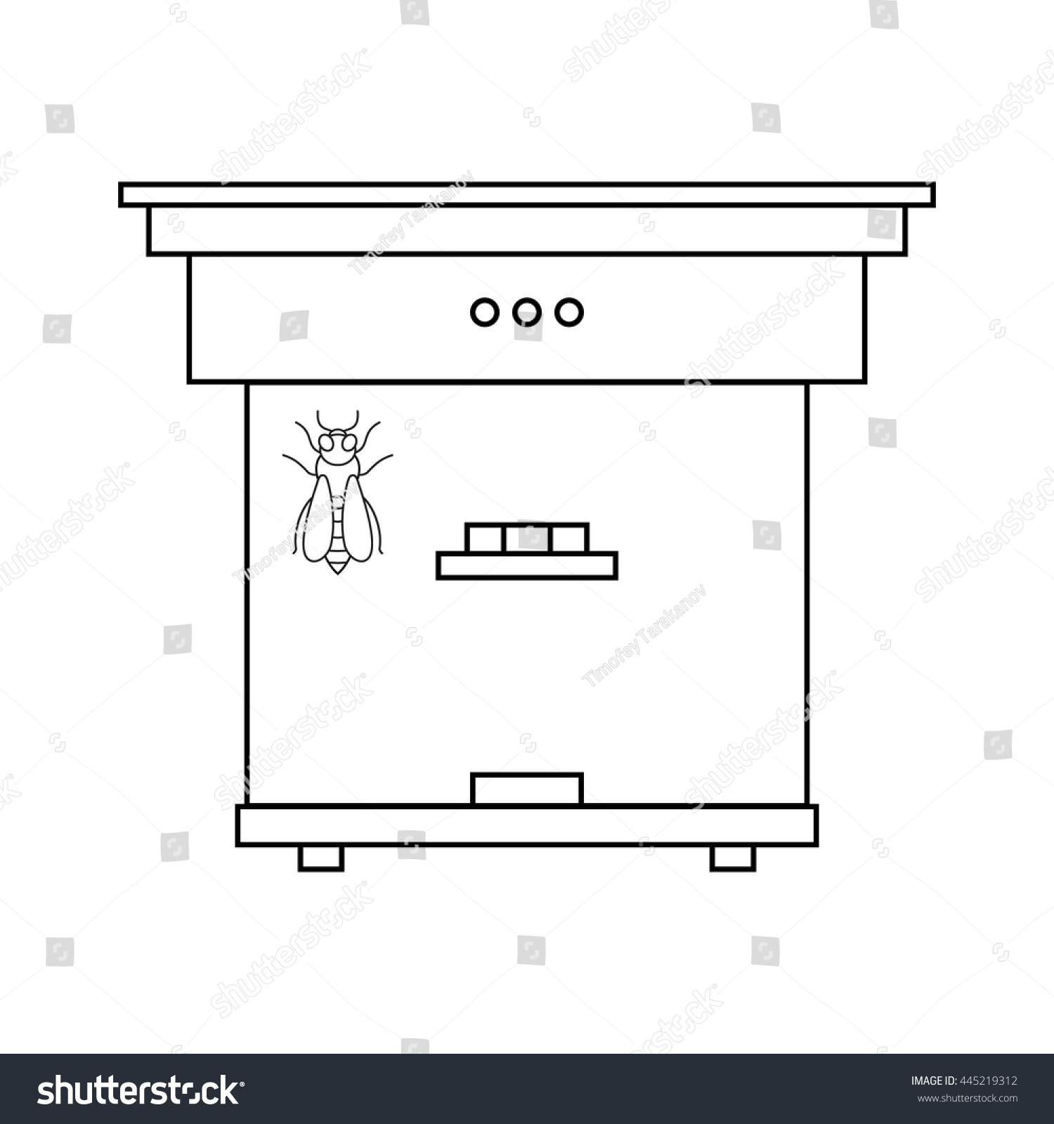 Bee Beehive Outline Stock Illustration 445219312 Shutterstock Phone Wiring Diagram