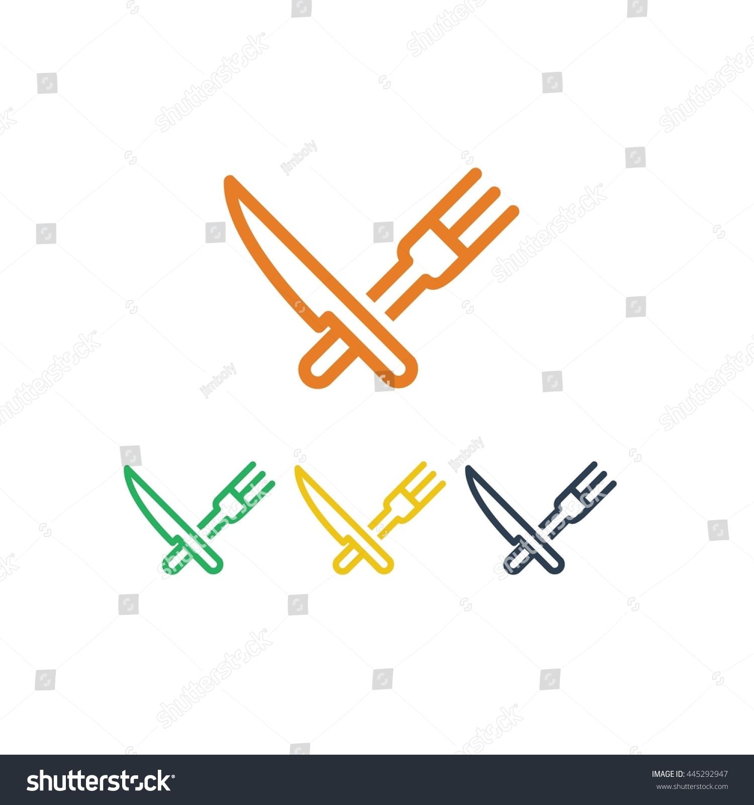 restaurant modern kitchen chef logo design stock vector 445292947 restaurant modern kitchen chef logo design icon flat