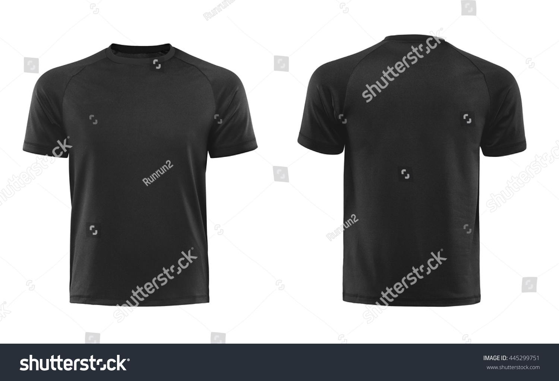 Black Tshirts Front Back Used Design Stock Photo (Royalty Free ...