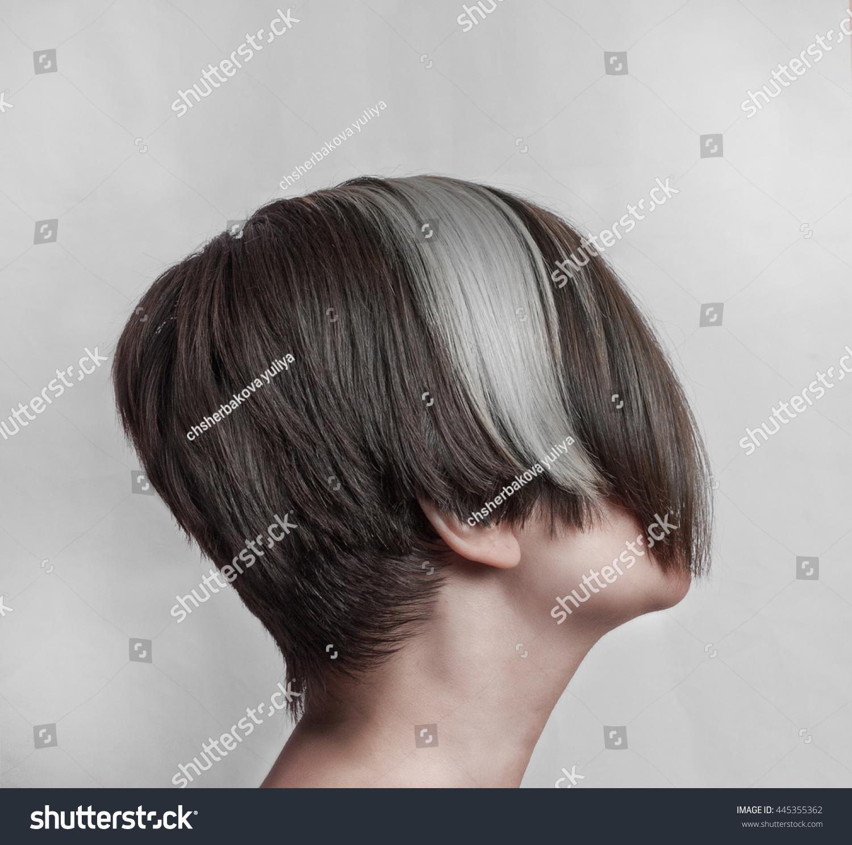 Prime Womens Short Asymmetric Haircut Long Bangs Stock Photo Edit Now Natural Hairstyles Runnerswayorg