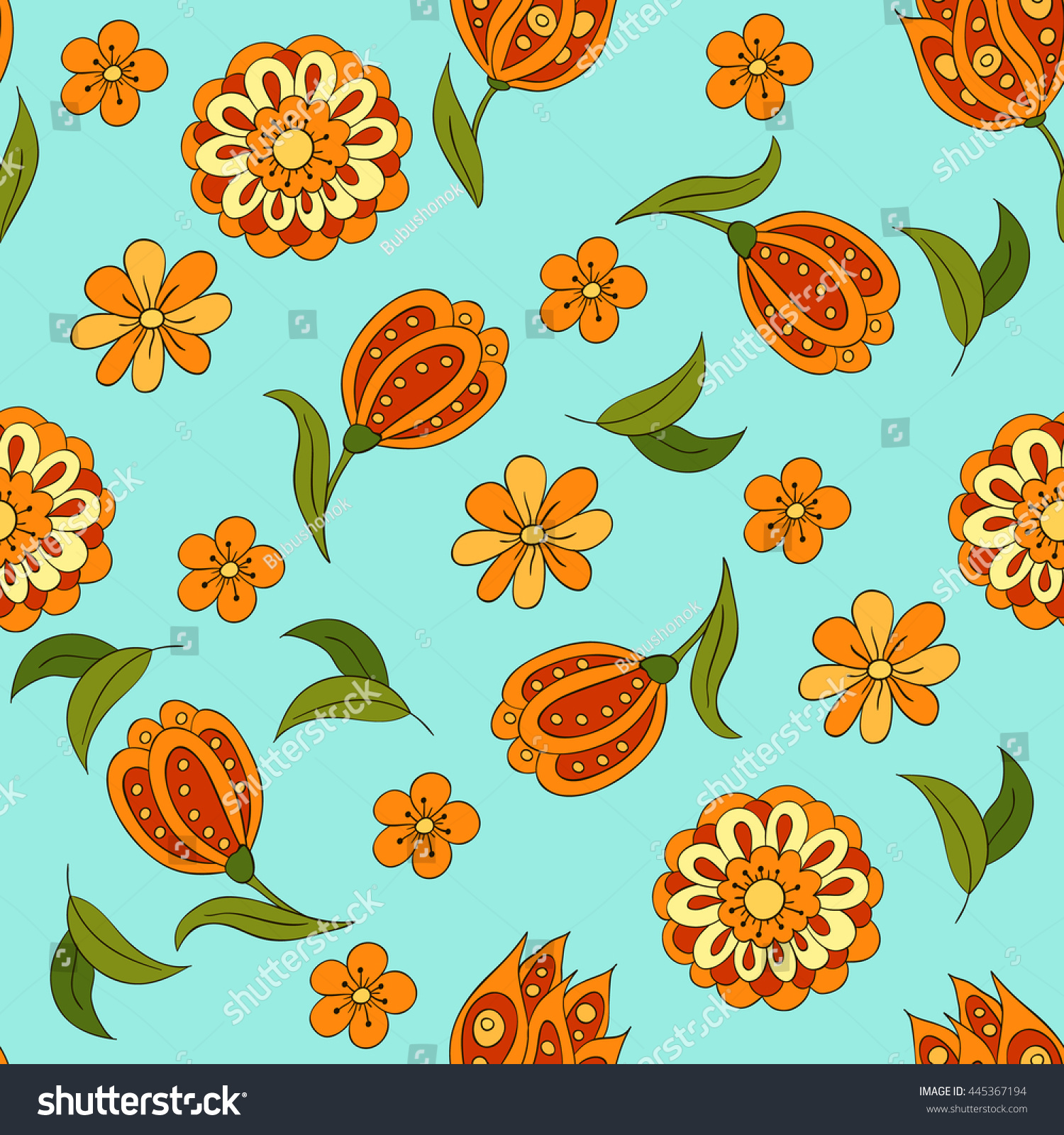 Seamless pattern spring flowers cover background stock vector seamless pattern spring flowers cover background stock vector 445367194 shutterstock mightylinksfo