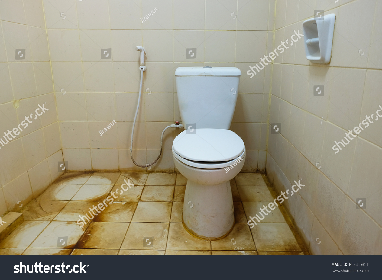 Dirty Toilet House Stock Photo 445385851 Shutterstock