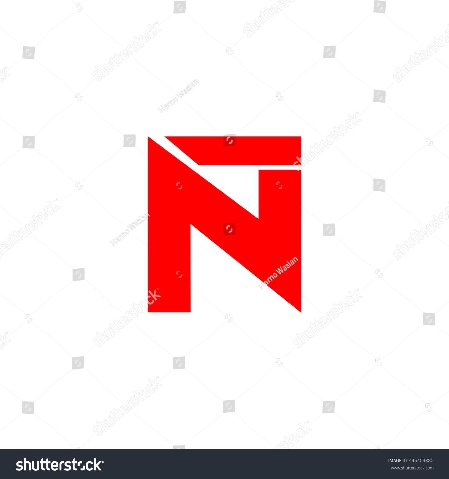 Nt Letter Vector Logo Stock Vector 445404880 Shutterstock