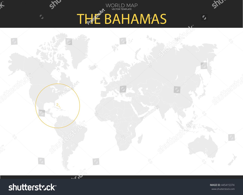 Commonwealth Bahamas Location Modern Detailed Vector Stock Vector