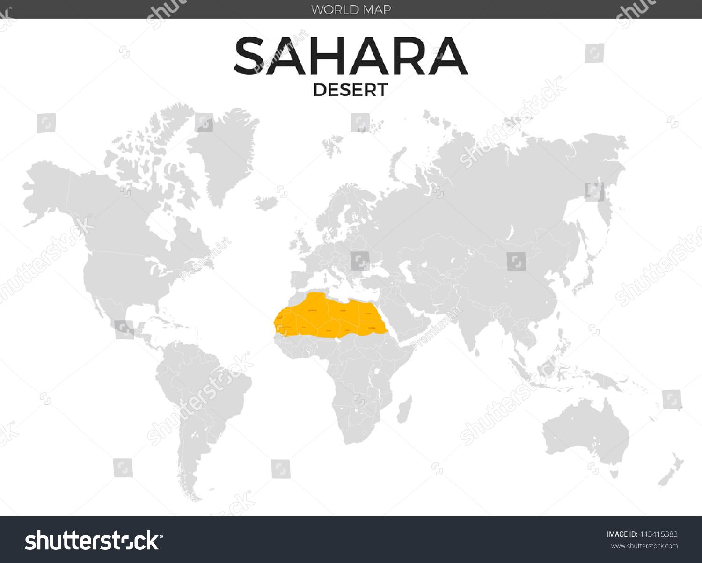 Sahara Desert Location Modern Detailed Vector Stock Vector (Royalty ...