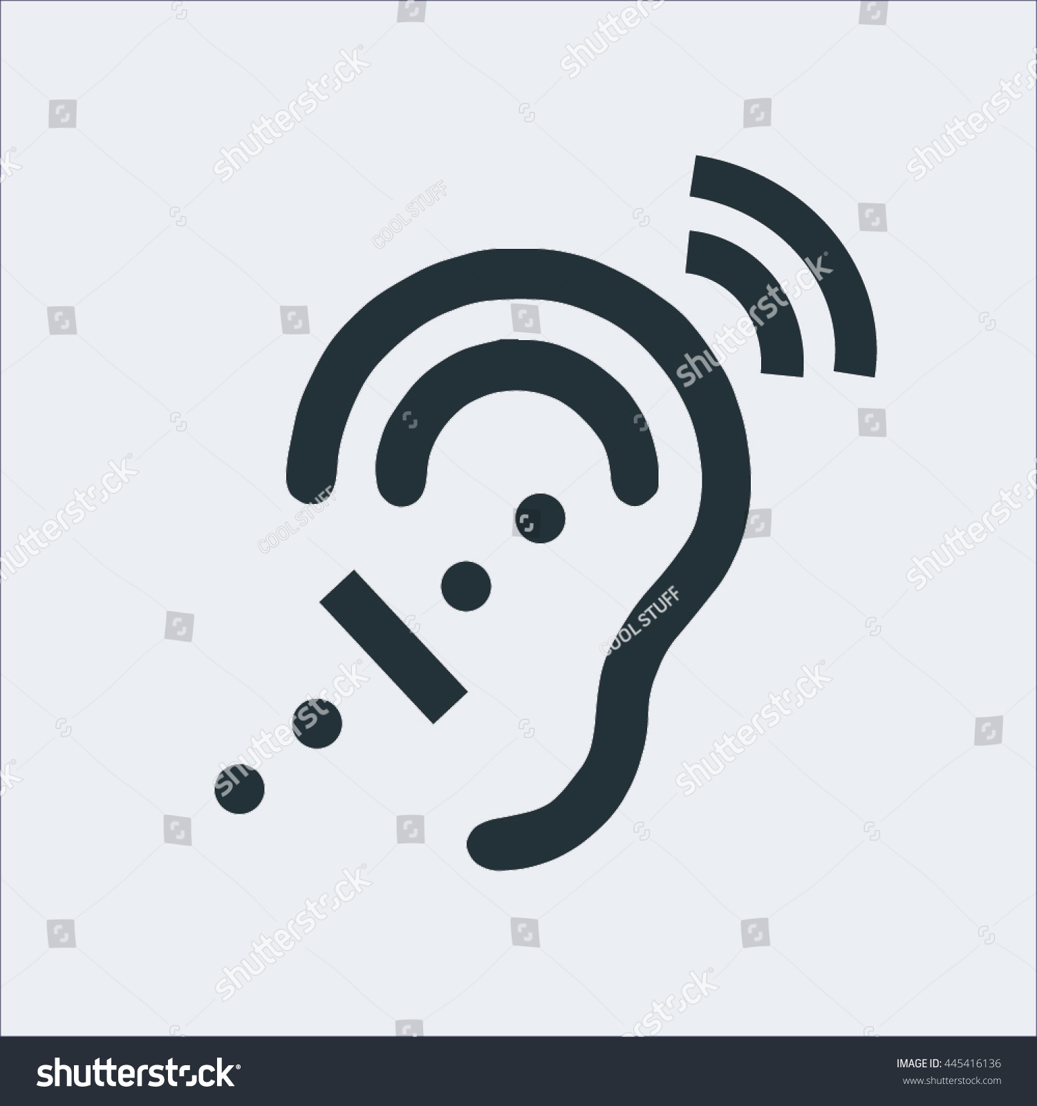 Universal access icon deafness icon hard stock vector 445416136 universal access icon deafness icon hard of hearing iconaudible icon deaf buycottarizona Gallery
