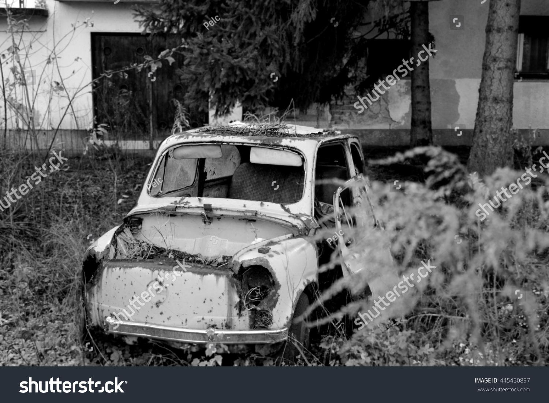 cc559cbd9f Abandoned Car Slovenia Stock Photo (Edit Now) 445450897 - Shutterstock