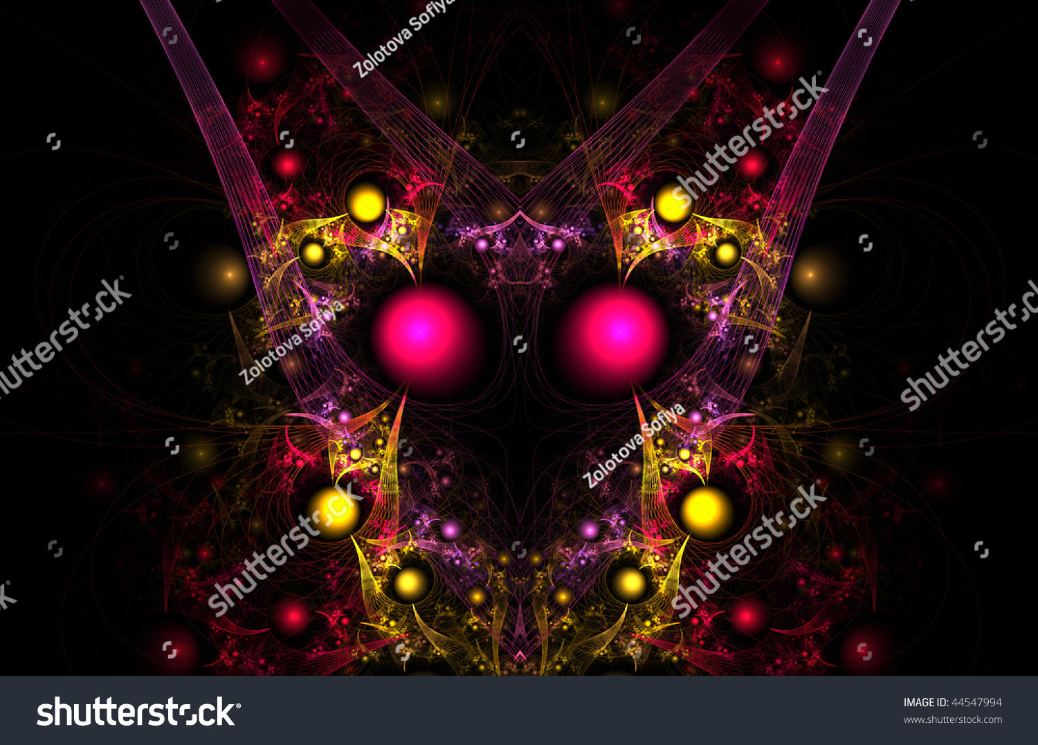 beautiful colorful fractals stock illustration 44547994 - shutterstock