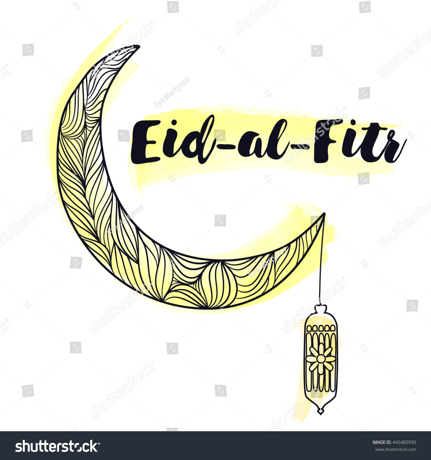 Amazing Eid Mubarak Eid Al-Fitr Decorations - stock-vector--decorated-shiny-crescent-moon-with-text-eid-al-fitr-eid-mubarak-background-for-muslim-community-445480930  Image_662325 .jpg