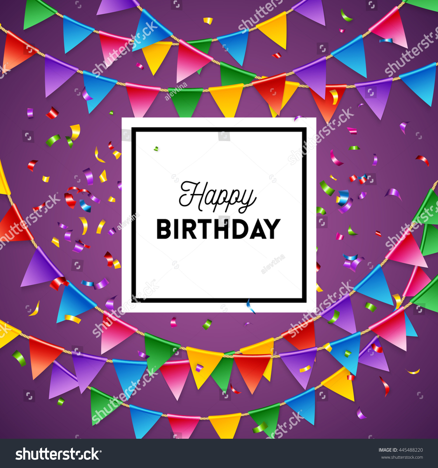 Happy Birthday Greeting Card Background Design Stock Vector Royalty