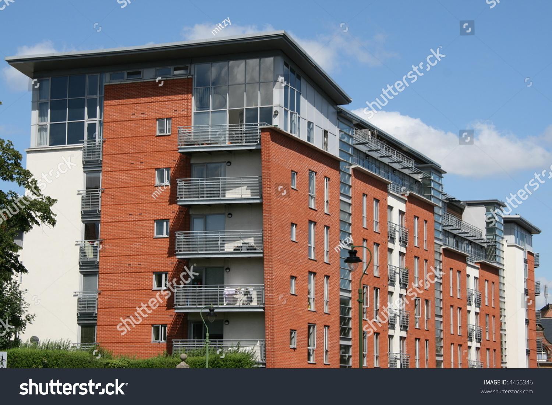 Modern Apartment Building Nottingham Uk Stock Photo ...