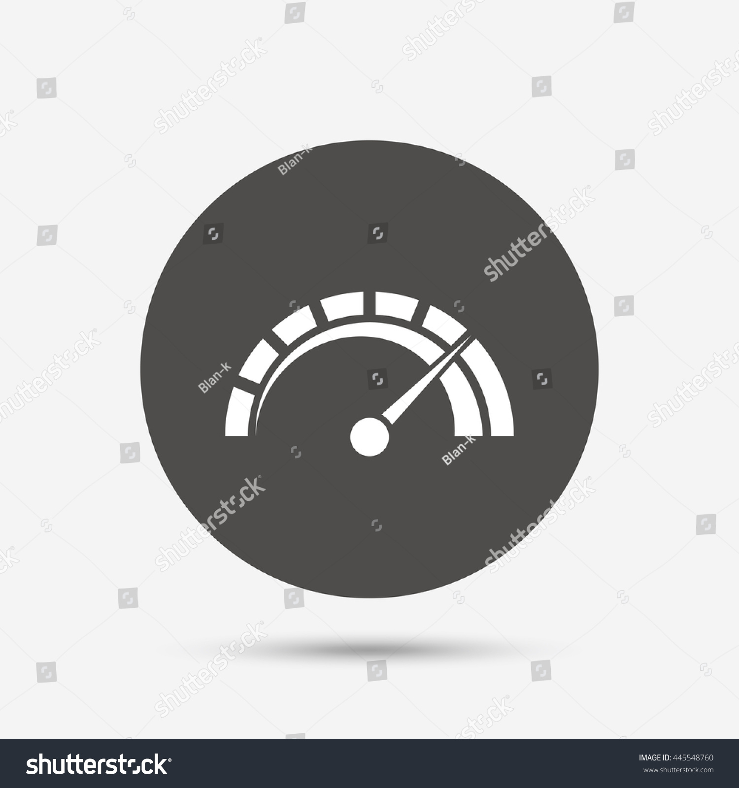 Tachometer Sign Icon Revolutioncounter Symbol Car Stock Illustration