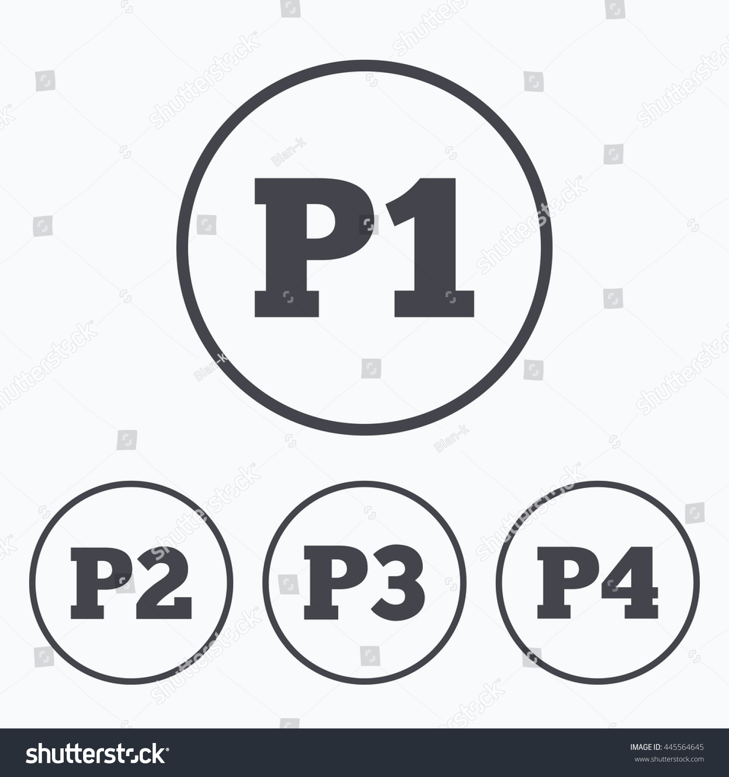 Royalty Free Stock Illustration Of Car Parking Icons First Second