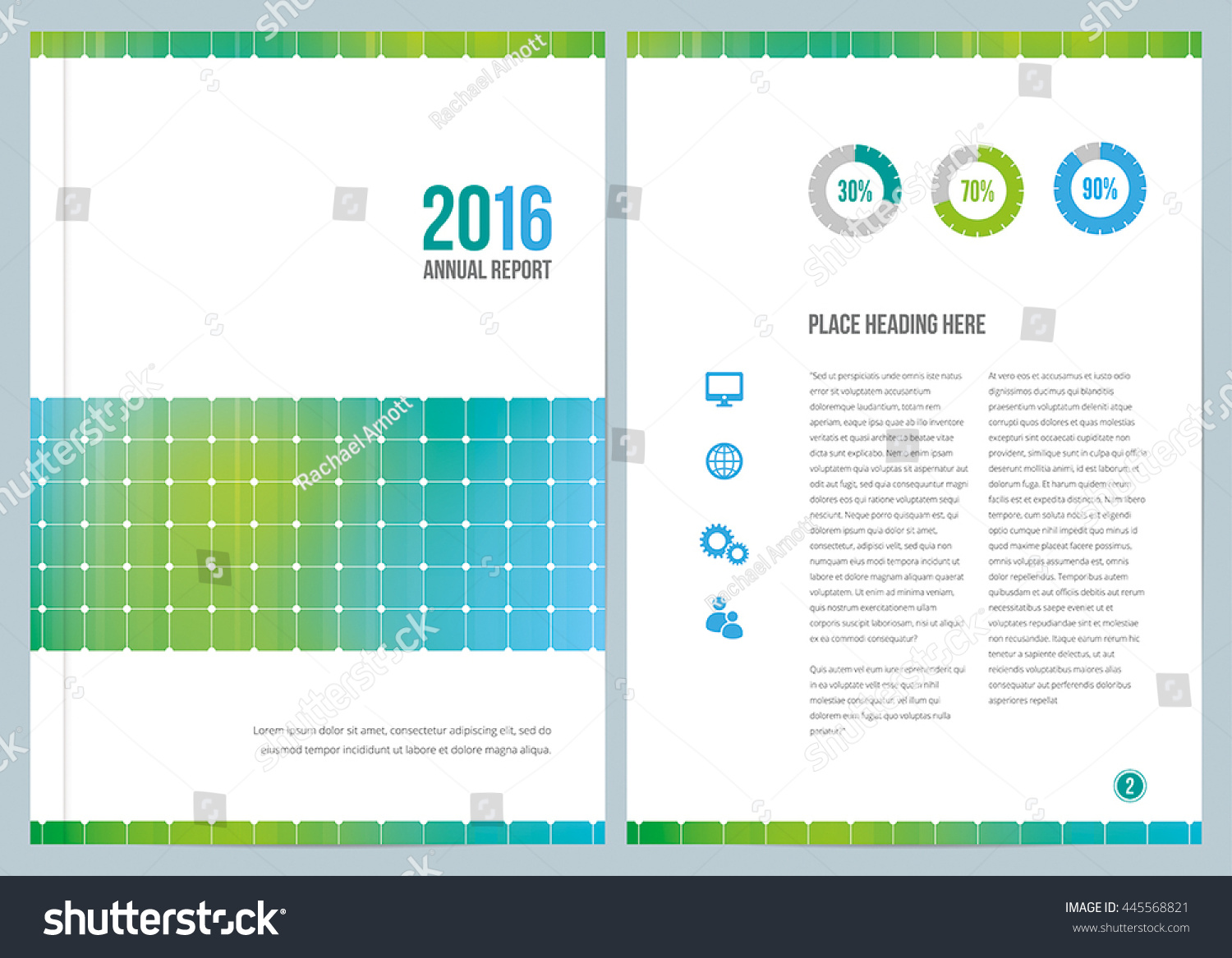Modern Annual Report Design Cover Inside Stock Vector (Royalty Free ...